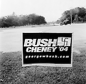 Pinecrest, Florida.USA.October 28, 2004..Bush - Cheney sign with nazi swastika..