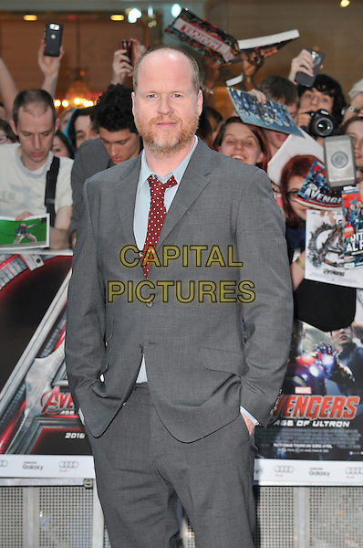 LONDON, ENGLAND - APRIL 21: Joss Whedon attends the &quot;The Avengers: Age of Ultron&quot; European film premiere, Vue Westfield, Westfield Shopping Centre, Shepherd's Bush, on Tuesday April 21, 2015 in London, England, UK. <br /> CAP/CAN<br /> &copy;CAN/Capital Pictures