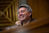 United States Senator Cory Gardner (Republican of Colorado) speaks during the testimony of David Hale, Under Secretary of State for Political Affairs, and Christopher Ford, Assistant Secretary for International Security and Nonproliferation before the United States Senate Committee on Foreign Relations at the U.S. Capitol in Washington D.C., U.S., on Tuesday, December 3, 2019.<br /> <br /> Credit: Stefani Reynolds / CNP