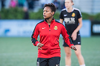 Allston, MA - Saturday Sept. 24, 2016: Taylor Smith prior to a regular season National Women's Soccer League (NWSL) match between the Boston Breakers and the Western New York Flash at Jordan Field.