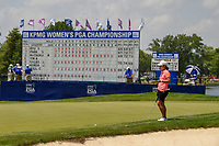 Nasa Hataoka (JPN) looks over her long birdie attempt on 18 during round 4 of the 2018 KPMG Women's PGA Championship, Kemper Lakes Golf Club, at Kildeer, Illinois, USA. 7/1/2018.<br /> Picture: Golffile | Ken Murray<br /> <br /> All photo usage must carry mandatory copyright credit (&copy; Golffile | Ken Murray)