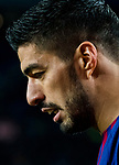 Luis Alberto Suarez Diaz of FC Barcelona reacts during the Copa Del Rey 2017-18 Round of 16 (2nd leg) match between FC Barcelona and RC Celta de Vigo at Camp Nou on 11 January 2018 in Barcelona, Spain. Photo by Vicens Gimenez / Power Sport Images