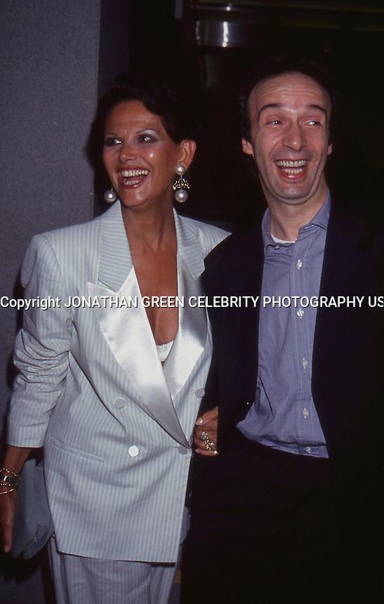 Claudia Cardinale & Roberto Benigni 1993<br /> by Jonathan Green