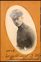 BNPS.co.uk (01202 558833)<br /> Pic: Ratisbons/BNPS<br /> <br /> Pilot Emil Buge training in 1918.<br /> <br /> A personal archive belonging to a hero German pilot of the First World War who fought to bring down the Nazis in the second has been discovered.<br /> <br /> Emil Buge flew on 37 sorties against the British on the Western Front, dropping 27 bombs, 128 grenades and firing 9,500 rounds of ammunition.<br /> <br /> Despite his heroics in 1918, Buge was imprisoned at a murderous concentration camp by his own country in the Second World War as a political prisoner. He used his position as an inmate clerk to gather evidence of SS atrocities.