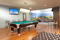 Billiard Room With Glass Wall
