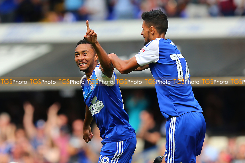 Grant Ward of Ipswich Town scores the first goal for his team and celebrates during Ipswich Town vs Preston North End, Sky Bet EFL Championship Football at Portman Road on 27th August 2016