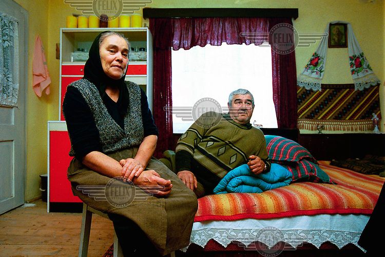 """Dimitri (64) used to be a truck driver in the army. """"We can't complain. We have a big piece of land. We cultivate more food than we can eat, have a car and an appartment in the city."""""""