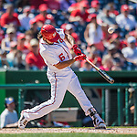 28 August 2016: Washington Nationals infielder Anthony Rendon in action against the Colorado Rockies at Nationals Park in Washington, DC. The Rockies defeated the Nationals 5-3 to take the rubber match of their 3-game series. Mandatory Credit: Ed Wolfstein Photo *** RAW (NEF) Image File Available ***