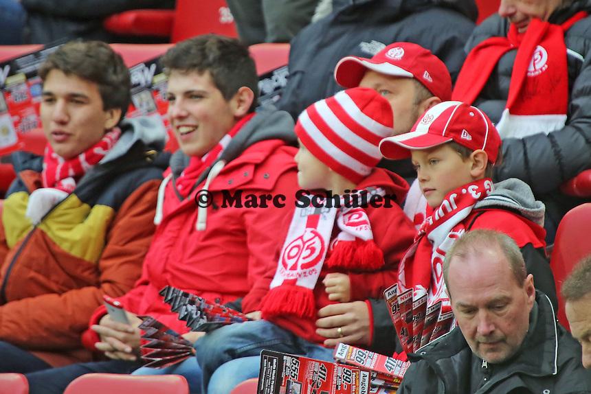 junge Mainzer Fans - 1. FSV Mainz 05 vs. Eintracht Frankfurt, Coface Arena, 12. Spieltag