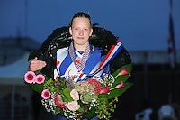 FIERLJEPPEN: BURGUM: 16-07-2016, Keningsljeppen, Marrit van der Wal (Koningin), ©foto Martin de Jong