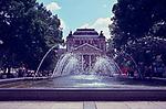 Ivan Vazov Theater with Fountain, Summer