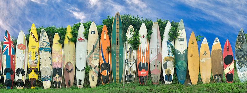 Surfboard fence. Maui, Hawaii
