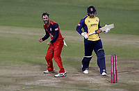 Glenn Maxwell of Lancashire celebrates taking the wicket of Cameron Delport during Lancashire Lightning vs Essex Eagles, Vitality Blast T20 Cricket at the Emirates Riverside on 4th September 2019