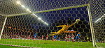 26.02.2020 SC Braga v Rangers: Matheus tips the ball onto the post