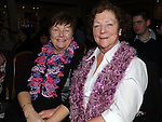 Brid Conway and Mary Morrison pictured at the Mornington Gospel Choir concert in the Glenside hotel. Photo: Colin Bell/pressphotos.ie