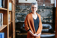 "Frances Moore Lappé is a co-founder of the Small Planet Institute and author, most recently, of ""World Hunger: 10 Myths."" She is seen here in the offices of the Small Planet Institute in Cambridge, Massachusetts, USA."