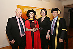 20/1/2015   (with compliments)  Attending the University of Limerick conferrings on Tuesday afternoon were  Suzanne Dunne, Kilsheelin, Co. Tipperary who was conferred with a PHD and her dad Mike.(left) Debbie Hennessy and Prof Colum Dunne, Director, Research Medical School.<br /> Picture Liam Burke/Press 22