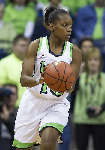 December 05, 2012:  Notre Dame guard Kaila Turner (15) during NCAA Women's Basketball game action between the Notre Dame Fighting Irish and the Baylor Bears at Purcell Pavilion at the Joyce Center in South Bend, Indiana.  Baylor defeated Notre Dame 73-61.