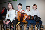 The Ceol Uirlise group from Tuat Ó Siosta who took part in the South of County semi Finals in Foilmore on Saturday were l-r; Abbie Dunlop, Fiachra Breen, Connor Hennessy & Cathal Murphy.