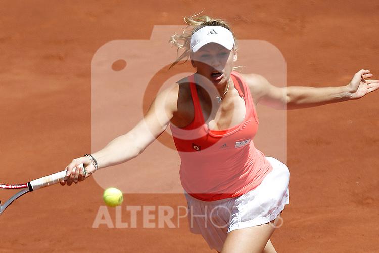 Denmark's Caroline Wozniacki during  Mutua Madrid Tennis Open on May 5, 2011...Photo: Cesar Cebolla / ALFAQUI
