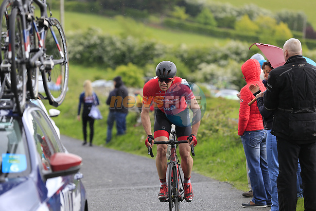 Ciaran Murphy (Galway Team Gerry McVeigh Cars) on the first Cat 3 climb Loughcrew during Stage 1 of the 2017 An Post Ras running 146.1km from Dublin Castle to Longford, Ireland. 21st May 2017.<br /> Picture: Eoin Clarke | Cyclefile<br /> <br /> <br /> All photos usage must carry mandatory copyright credit (&copy; Cyclefile | Eoin Clarke)