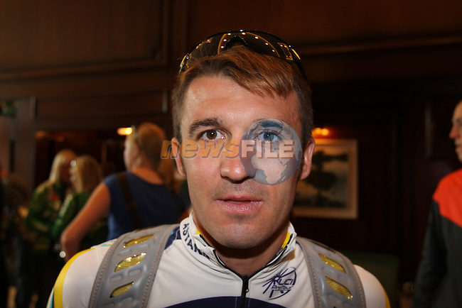 Astana team rider Yaroslav Popovych (UKR) before the start of  Stage1 of the 2009 Tour of Ireland, running 196km from the Ritz-Carlton Hotel Powerscourt, Enniskerry to Waterford, Ireland. 21st August 2009.<br /> (Photo by Eoin Clarke/NEWSFILE)