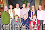 Mary Lynch presents the Farranfore/Maine Valley Hall of Fame award to Tom McCarthy Ballymac at their annual awards night in the Anvil bar, Boolteens on Friday night front row l-r: Mary Lynch, Tom, Mary McCarthy. Back row: John O'Donoghue, Tom Walsh, Ger Crowley, Ted McCarthy, Michael O'Connor, Maria McCarthy and Joe Clifford.