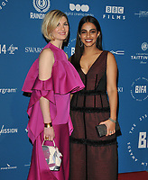 Jodie Whittaker and Mandip Gill at the British Independent Film Awards (BIFA) 2018, Old Billingsgate Market, Lower Thames Street, London, England, UK, on Sunday 02 December 2018.<br /> CAP/CAN<br /> &copy;CAN/Capital Pictures