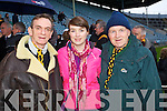 Pictured at Pairc Ui Chaoimh on Sunday for the Crokes v  Castlehaven senior club final game were l-r: Sean Looney, Emma Looney and Pat Looney.