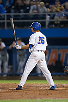 Nick Horvath (26) of the Florida Gators at bat against the Wake Forest Demon Deacons in Game One of the Gainesville Super Regional of the 2017 College World Series at Alfred McKethan Stadium at Perry Field on June 10, 2017 in Gainesville, Florida.  The Gators defeated the Demon Deacons 2-1 in 11 innings.  (Brian Westerholt/Four Seam Images)