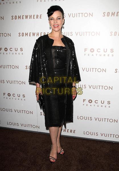 "DEBI MAZAR.Premiere of ""Somewhere"" held At The Arclight Theatres, Hollywood, CA, USA..December 7th, 2010.full length black dress jacket sequins sequined clutch bag.CAP/ADM/KB.©Kevan Brooks/AdMedia/Capital Pictures."