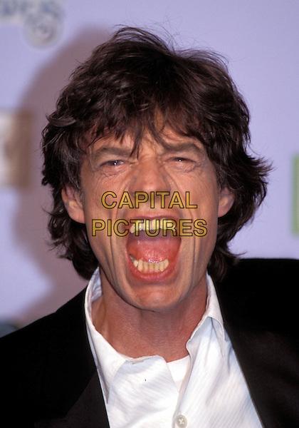 MICK JAGGER - THE ROLLING STONES.MTV Europe Music Awards 1999.Ref: 9071.www.capitalpictures.com.sales@capitalpictures.com.©Capital Pictures.music, funny face, mouth