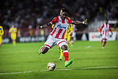 14th September 2017, Red Star Stadium, Belgrade, Serbia; UEFA Europa League Group stage, Red Star Belgrade versus BATE; Forward Richmond Boakye of Red Star Belgrade shoots on the goal