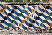 Tiles in the Real Acazar Garden, Seville