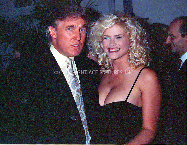 WWW.ACEPIXS.COM *** NO U.K. NEWSPAPERS SALES ***....NEW YORK, CIRCA 1995: DONALD TRUMP, ANNA NICOLE SMITH....Please byline: R. BOCKLET-ACE PICTURES.   ..  ***  ..Ace Pictures, Inc:  ..contact: Alecsey Boldeskul (646) 267-6913 ..Philip Vaughan (646) 769-0430..e-mail: info@acepixs.com