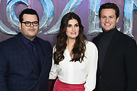 "LONDON, UK. November 17, 2019: Josh Gad, Idina Menzel & Jonathan Groff arriving for the ""Frozen 2"" European premiere at the BFI South Bank, London.<br /> Picture: Steve Vas/Featureflash"