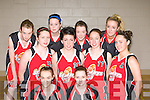 St Mary's u18 womens team that defeated Liffey Celtics in National Cup semi-final in Killarney Sports Centre on Saturday front l-r: Amber Galway, Maura Conroy. Middle row: Louise O'Connor, Danielle McLoughlin, Mary Herlihy, Miriam Leane. Back row: Philomena O'Connor, Cliodhna O'Connor, Lauren Prenderville and Clodagh O'Connor