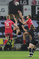 during the Guinness PRO14 Round 6 match between Ospreys and Scarlets at The Liberty Stadium , Swansea, Wales, UK. Saturday 07 October 2017