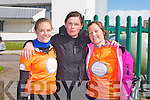Lorna Murphy, Linda Stafford and Kate Strickland who took part in the Cycle Against Suicide at the IT Tralee north campus on Friday...