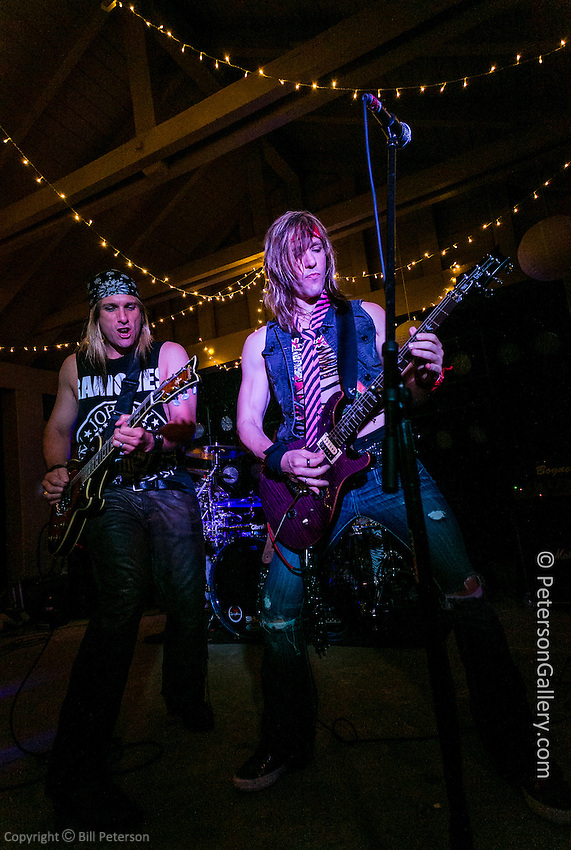 Lazy Bonez Band, an 80's rock tribute band. Performed in the movie &quot;Rock of Ages&quot;.<br />