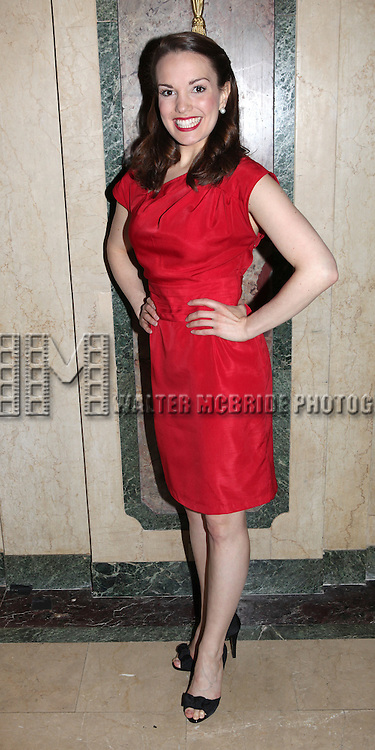 Kara Lindsay.attending the 2012 New York Theatre Workshop Spring Gala Honoring Barbara Warner Howard & Thomas Schumacher at the Plaza Hotel in New York City on 5/22/2012