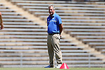 21 August 2016: Duke head coach Robbie Church. The Duke University Blue Devils played the University of Central Florida Knights in a 2016 NCAA Division I Women's Soccer match. Duke won the game 3-1.
