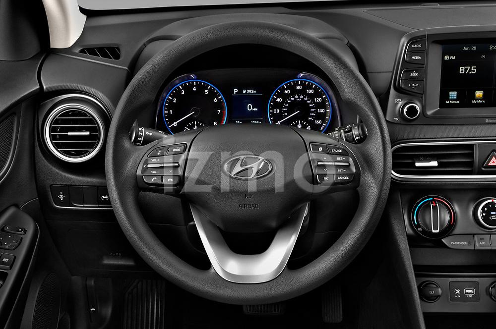 Car pictures of steering wheel view of a 2020 Hyundai Kona SE 5 Door SUV Steering Wheel