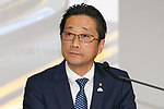 Toyota Motor Corp. Executive Vice President Osamu Nagata attends a news conference to present the company's financial results for the first half of its' 2017 financial year on November 7, 2017, Tokyo, Japan. Nagata reported 4,389,435 vehicle sales between April and September, an increase in 25,898 units compared to the same period in the previous fiscal year. Toyota's net revenues rose 8.6 percent to 14.191.2 trillion yen for the period whilst operative income decreased by 20.3 billion yen. (Photo by Rodrigo Reyes Marin/AFLO)