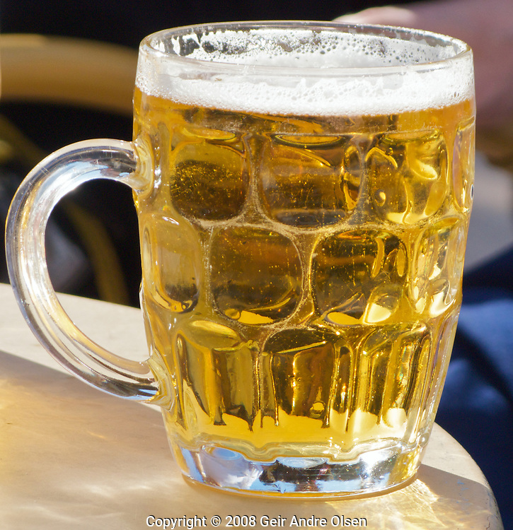 A refreshing glass of cold beer