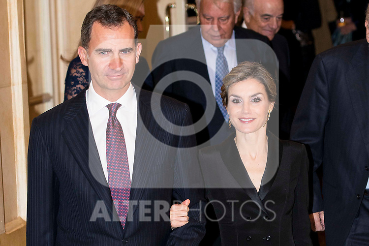 "King Felipe VI and Queen Letizia attend the delivery of the XXXII edition of the journalism award "" Francisco Cerecedo "" D. Felix Arzua at Ritz Hotel in Madrid, November 25, 2015<br /> (ALTERPHOTOS/BorjaB.Hojas)"