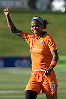 Natasha Kai (6) of Sky Blue FC celebrates a teammates goal. The Philadelphia Independence defeated Sky Blue FC 2-1 during a Women's Professional Soccer (WPS) match at John A. Farrell Stadium in West Chester, PA, on June 6, 2010.