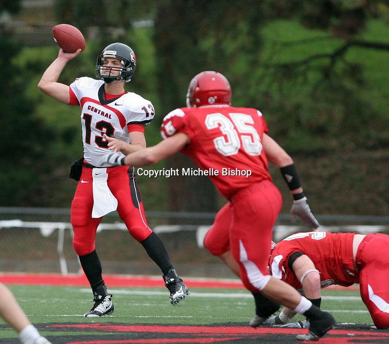 Central Missouri quarterback Eric Czerniewski. .Central Missouri defeated Nebraska-Omaha 49-31