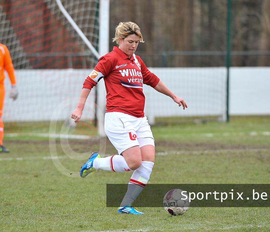 AA Gent Ladies - RAEC Mons : Emilie Vanardois.foto Joke Vuylsteke / Vrouwenteam.be