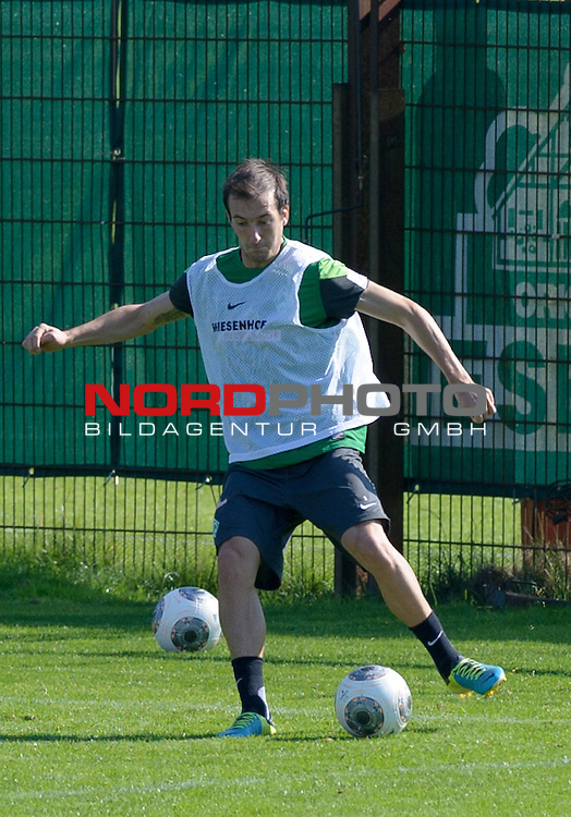 28.08.2013, Trainingsgelaende, Bremen, GER, 1.FBL, Training Werder Bremen, im Bild Luca Caldirola (Bremen #3)<br /> <br /> Foto &copy; nph / Frisch